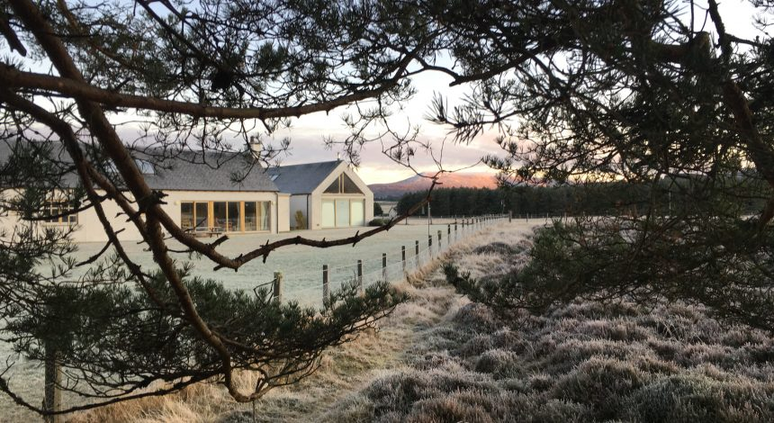 Winter at Ryvoan Lodge in the Cairngorms